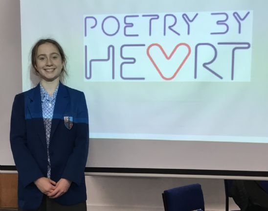 Student comes first in Poetry by Heart competition